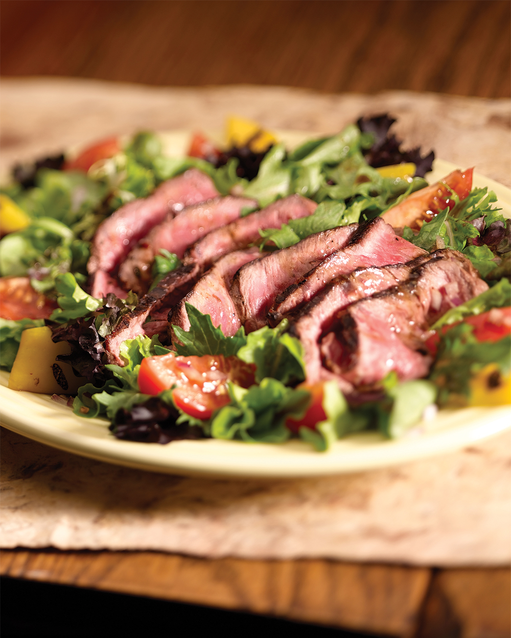 Broiled Skirt Steak with Sugar Snap Pea Salad