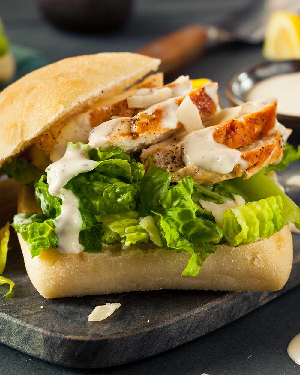 Orange Barbecue Chicken Sandwiches