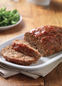 Sunday Supper Meatloaf with Roasted Vegetables