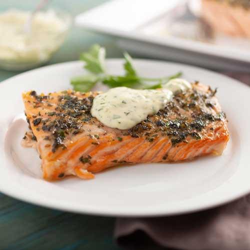 Slow-Roasted Salmon with Lemon & Herbs