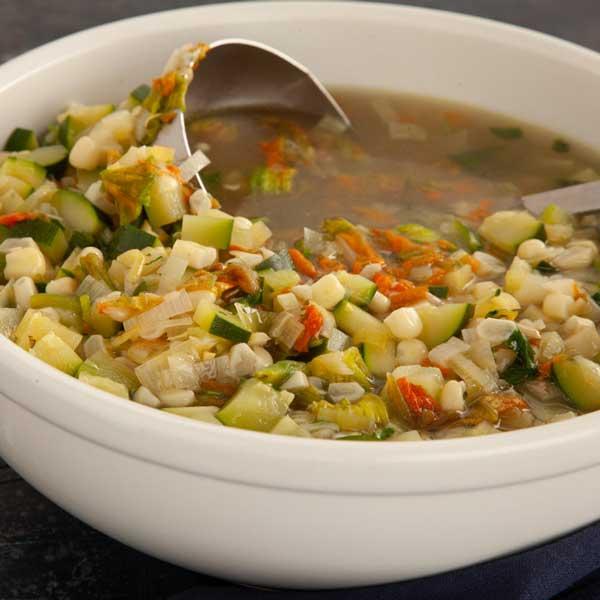 Sopa de Flor de Calabaza (Squash Blossom Soup)