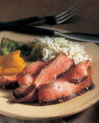 Tangy Grilled Top Round Steak with Lime