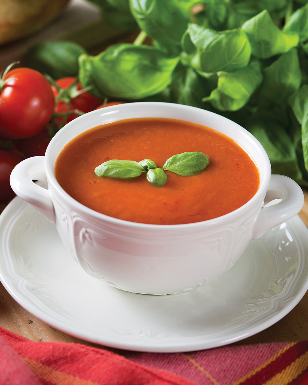 Classic Tomato Soup with Roasted Red Peppers