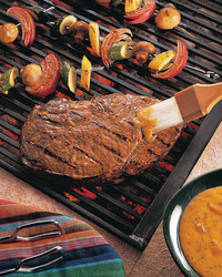 Marinated and Grilled Sirloin Steaks