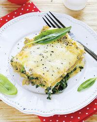 Alfredo-Spinach Lasagna