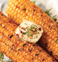 Cajun-Flavored, Grilled Corn on the Cob