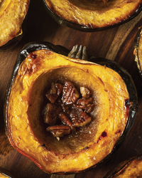 Acorn Squash Filled with Cranberries and Walnuts