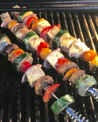 Quick and Easy Grilled Veggie Kebabs