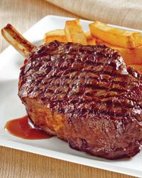 Whiskey Glazed Rib Steaks