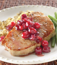Cranberry Crowned Pork Chops