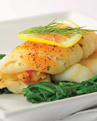 Petrale Sole Stuffed With Crabmeat