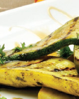 Grilled Zucchini and Yellow Squash with Apple Cider Glaze