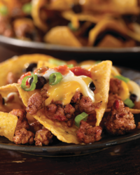 Baked Ground Beef Nachos