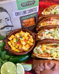 Crispy Jackfruit Carnitas Tacos with Mango Salsa