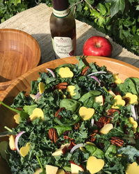 Apple Cheddar Kale Salad