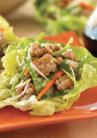 Asian-Style Chicken Salad in Lettuce Cups