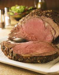 Easy Rib Roast with Herb Crust