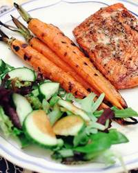 Glazed Salmon with Carrots