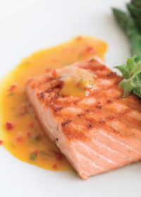 Grilled Salmon In Sweet Sauce