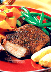 Pork Chops with Honey-Spice Glaze