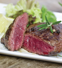 New York Steak with Crushed Peppercorns