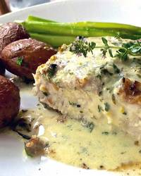 Broiled Swordfish With Seafood Cheese Sauce