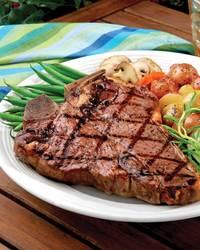 Certified Angus Beef T-Bone Steaks with Classic Steak Sauce