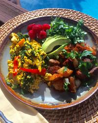 Weekend Tofu Breakfast Scramble with Skillet Potatoes