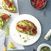 Roasted Tomato and Avocado Tartine
