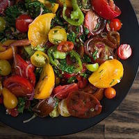 Heirloom Tomato Salad with Fresh Herbs [Bianchini's Market]
