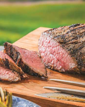 Tri-Tip Steak with Red and Yellow Peppers