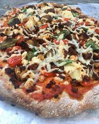 Roasted Eggplant Medley & Soyrizo Pizza