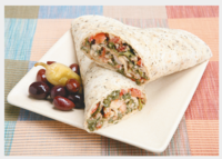 Simple Southwestern Hummus Wraps